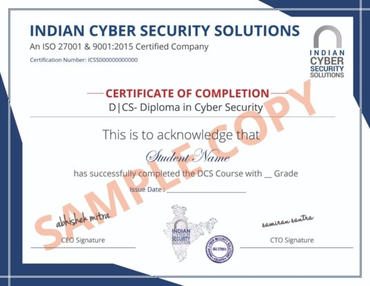 Diploma in Cyber Security Course in Kolkata